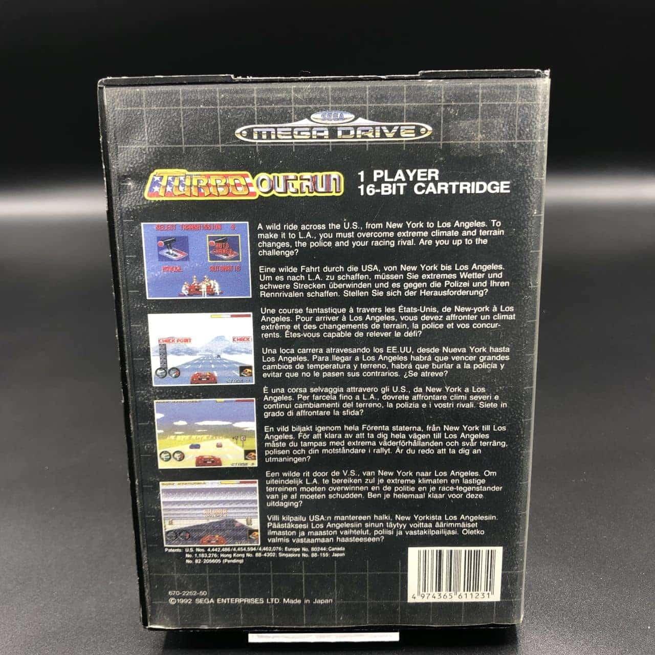 Turbo Outrun (ohne Anleitung) (Gut) Sega Mega Drive