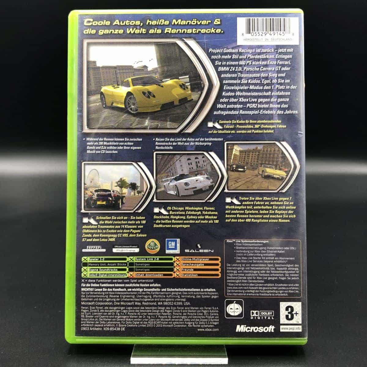 XBC Project Gotham Racing 2 (Komplett) (Gebrauchsspuren) Microsoft Xbox Classic