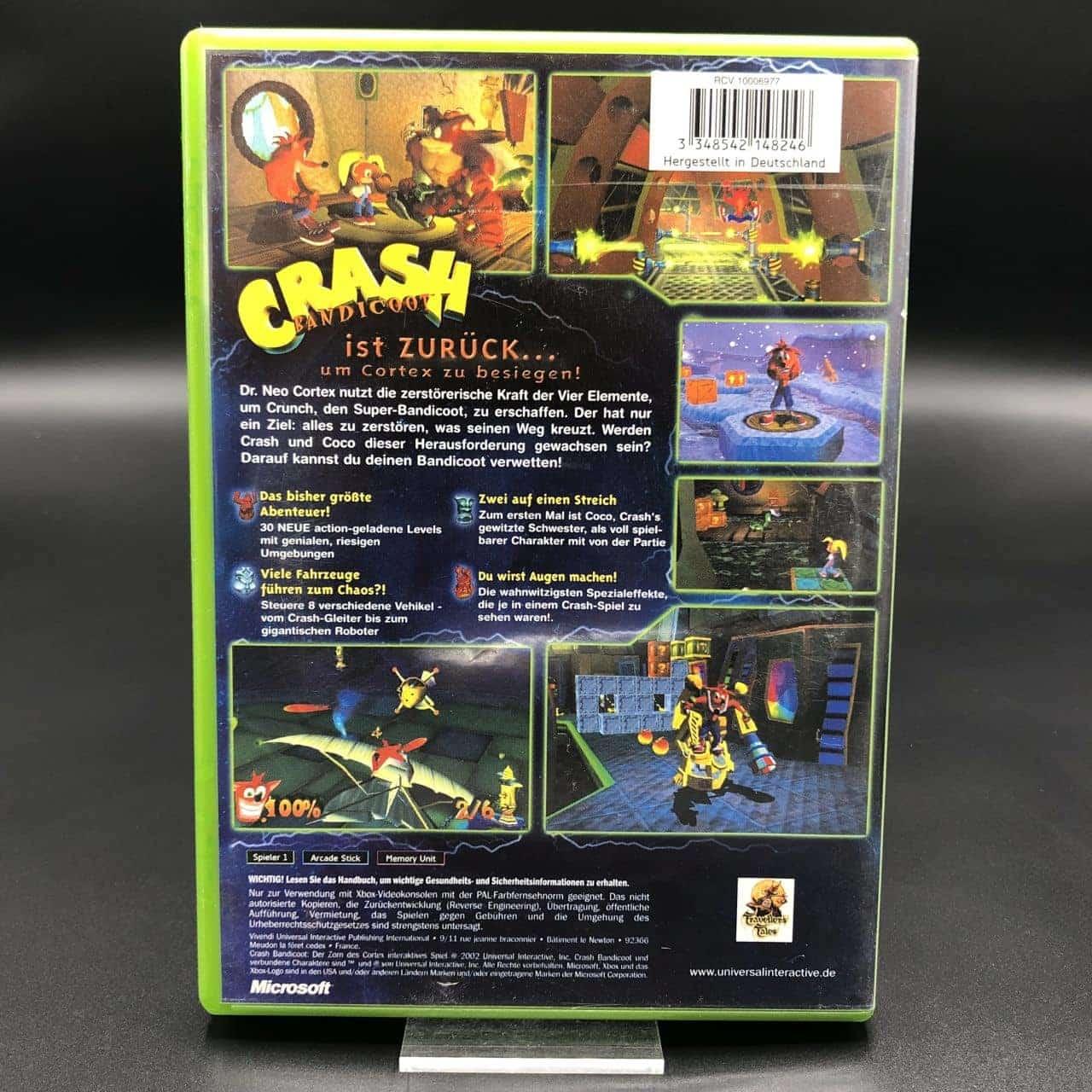 XBC Crash Bandicoot: Der Zorn des Cortex (Komplett) (Sehr gut) Microsoft Xbox Classic