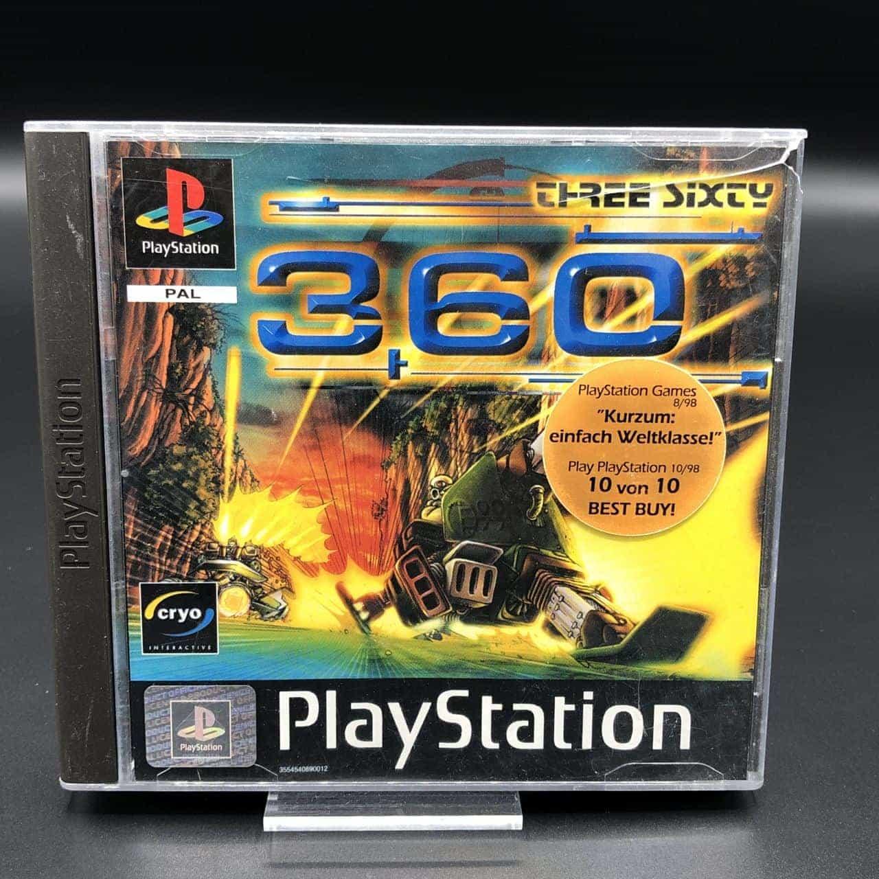 PS1 360: Three Sixty (Komplett) (Sehr gut) Sony PlayStation 1