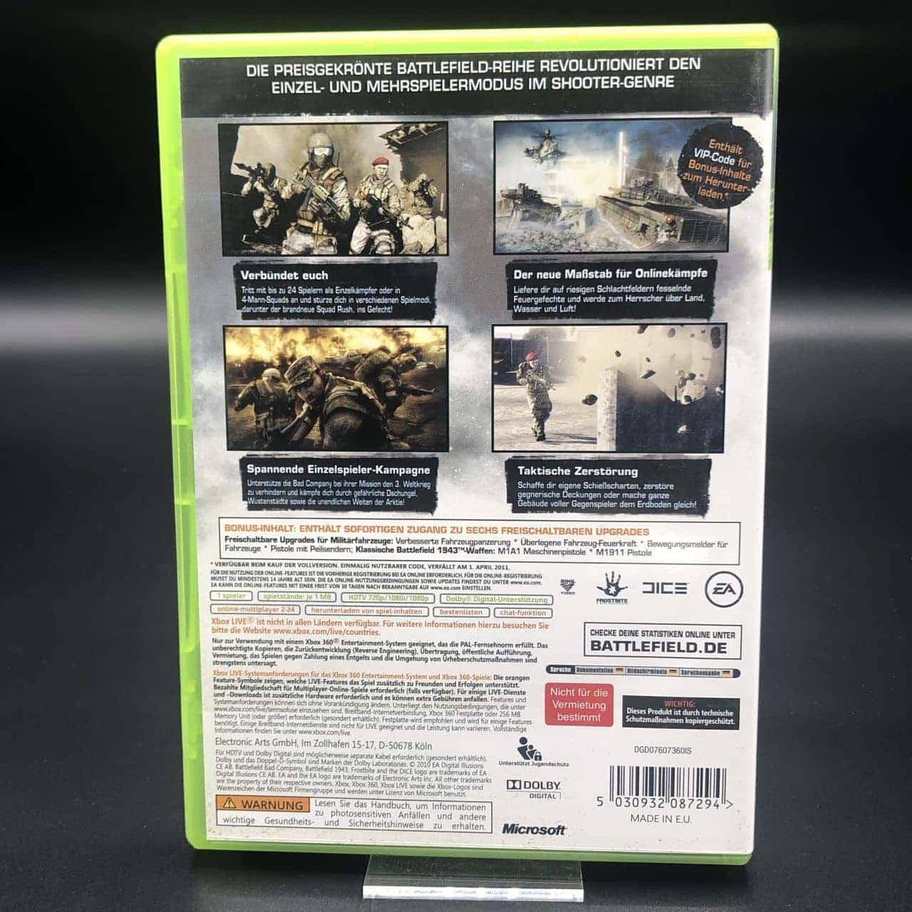 Battlefield: Bad Company 2 (Limited Edition) (Komplett) (Sehr gut) XBOX 360 (FSK18)