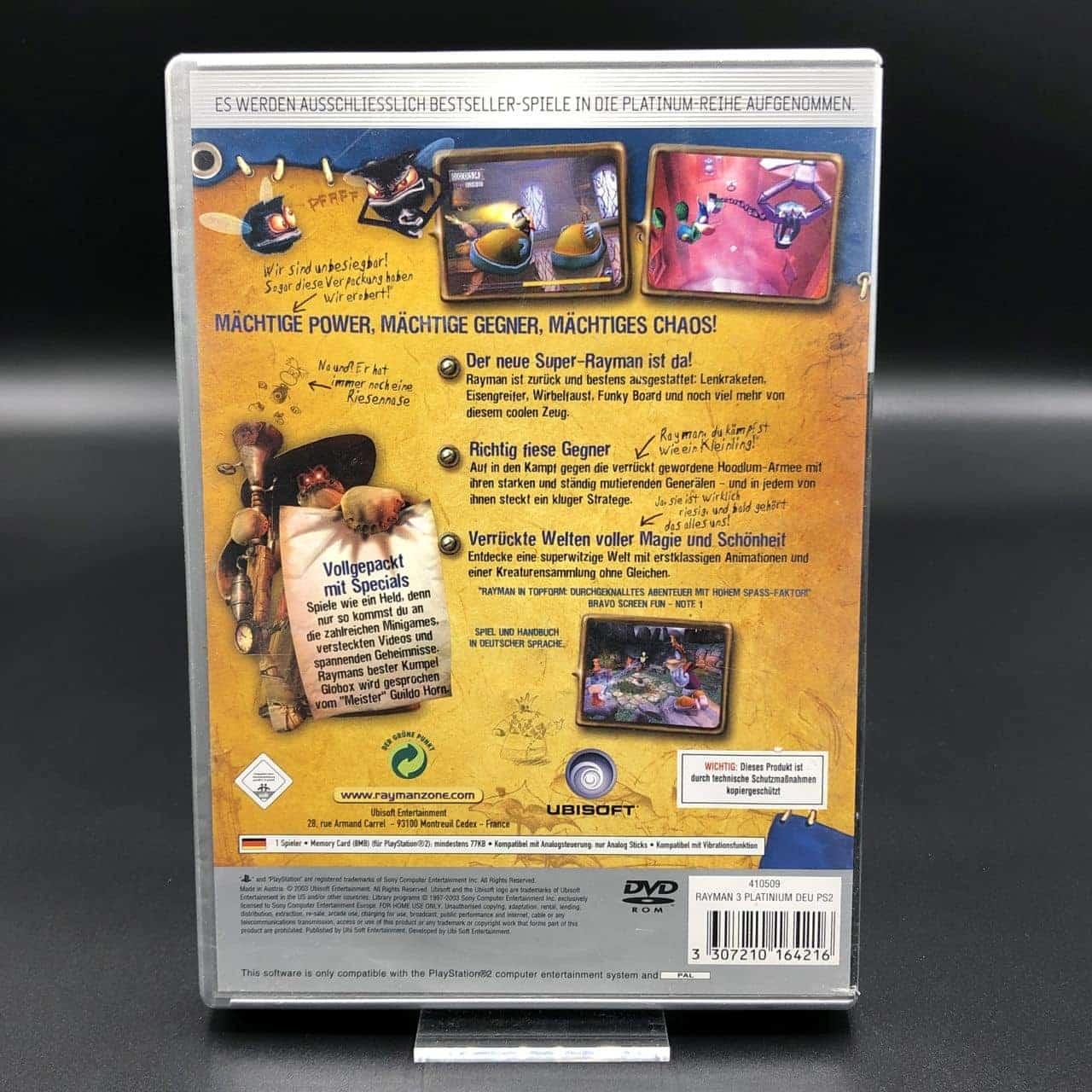 PS2 Rayman 3: Hoodlum Havoc (Platinum) (Komplett) (Gebrauchsspuren) Sony PlayStation 2