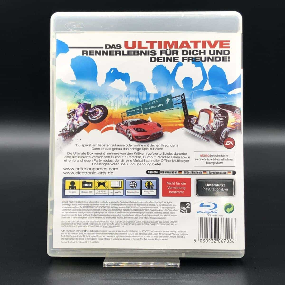 PS3 Burnout Paradise (Ultimate Box) (Komplett) (Sehr gut) Sony PlayStation 3