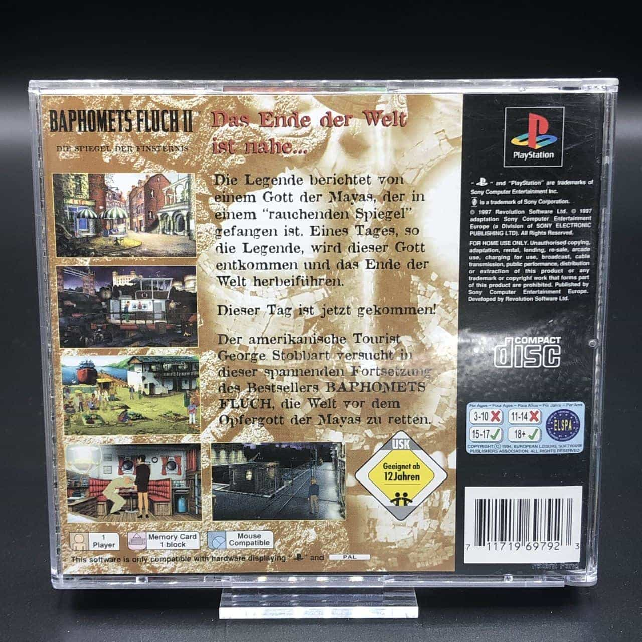 PS1 Baphomets Fluch II Die Spiegel der Finsternis (Komplett) (Gut) Sony PlayStation 1