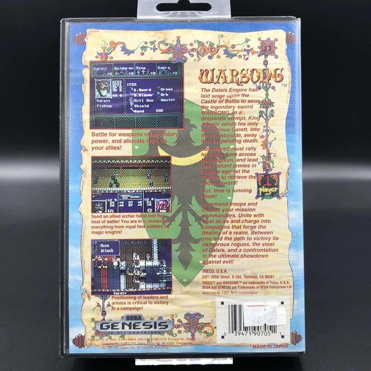 Warsong (Import) (ohne Anleitung) (Sehr gut) Sega Mega Drive