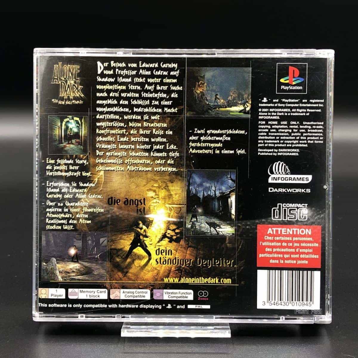 PS1 Alone in the Dark: The New Nightmare (Komplett) (Gut) Sony PlayStation 1