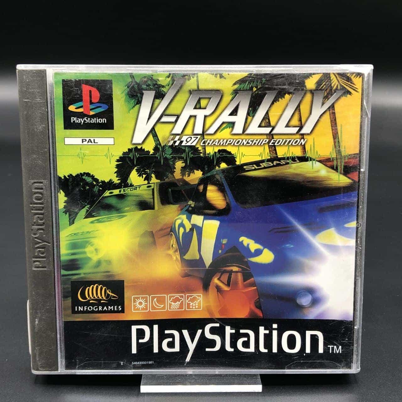 PS1 V-Rally (Komplett) (Gut) Sony PlayStation 1