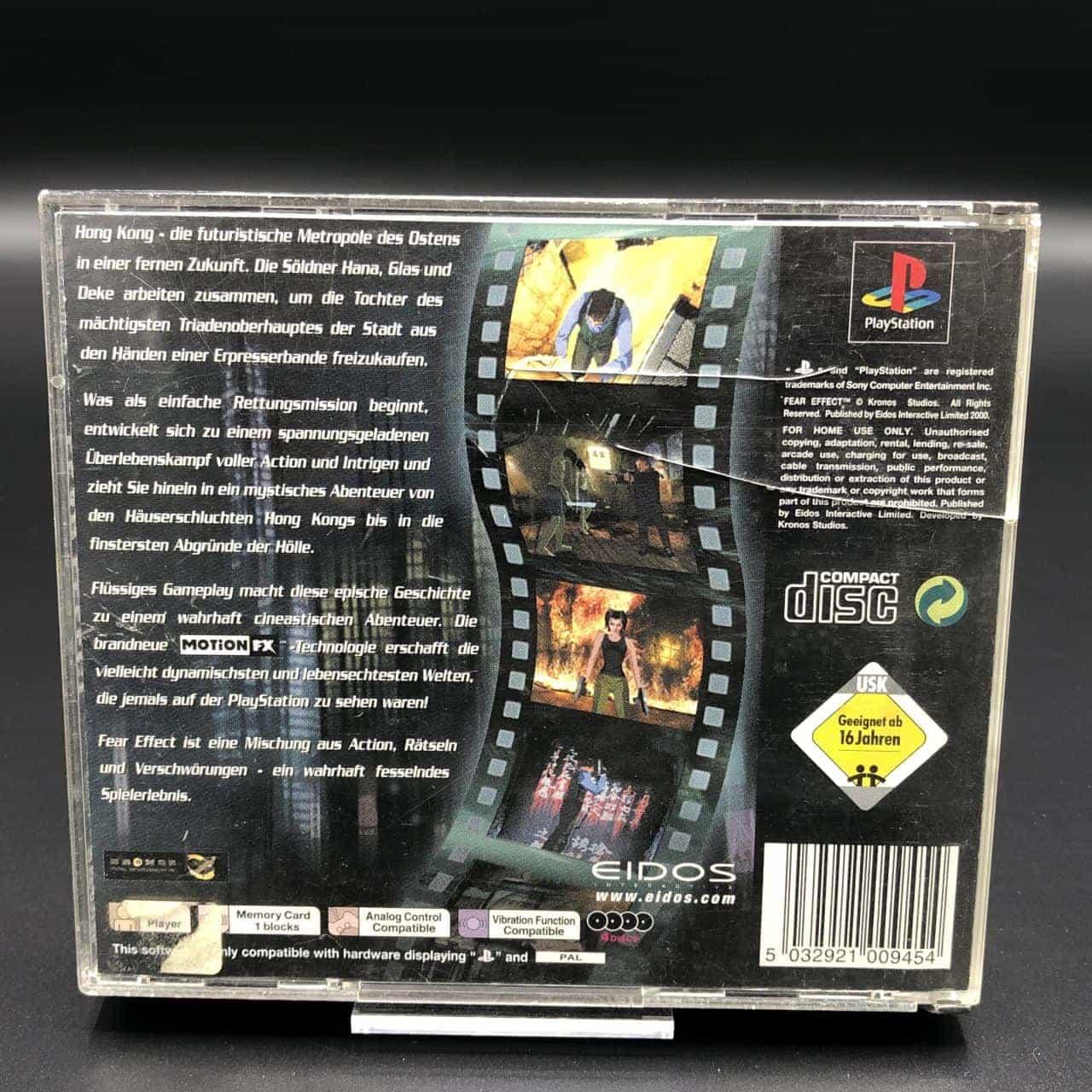 PS1 Fear Effect (ohne Anleitung) (Gebrauchsspuren) Sony PlayStation 1