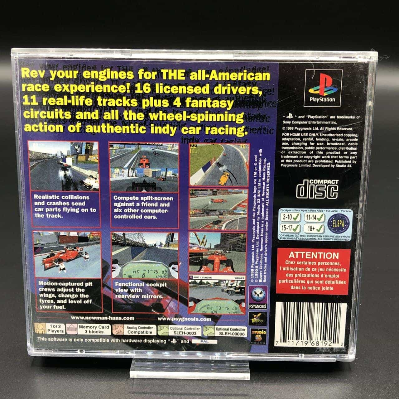 PS1 Newman Haas Racing (Komplett) (Sehr gut) Sony PlayStation 1