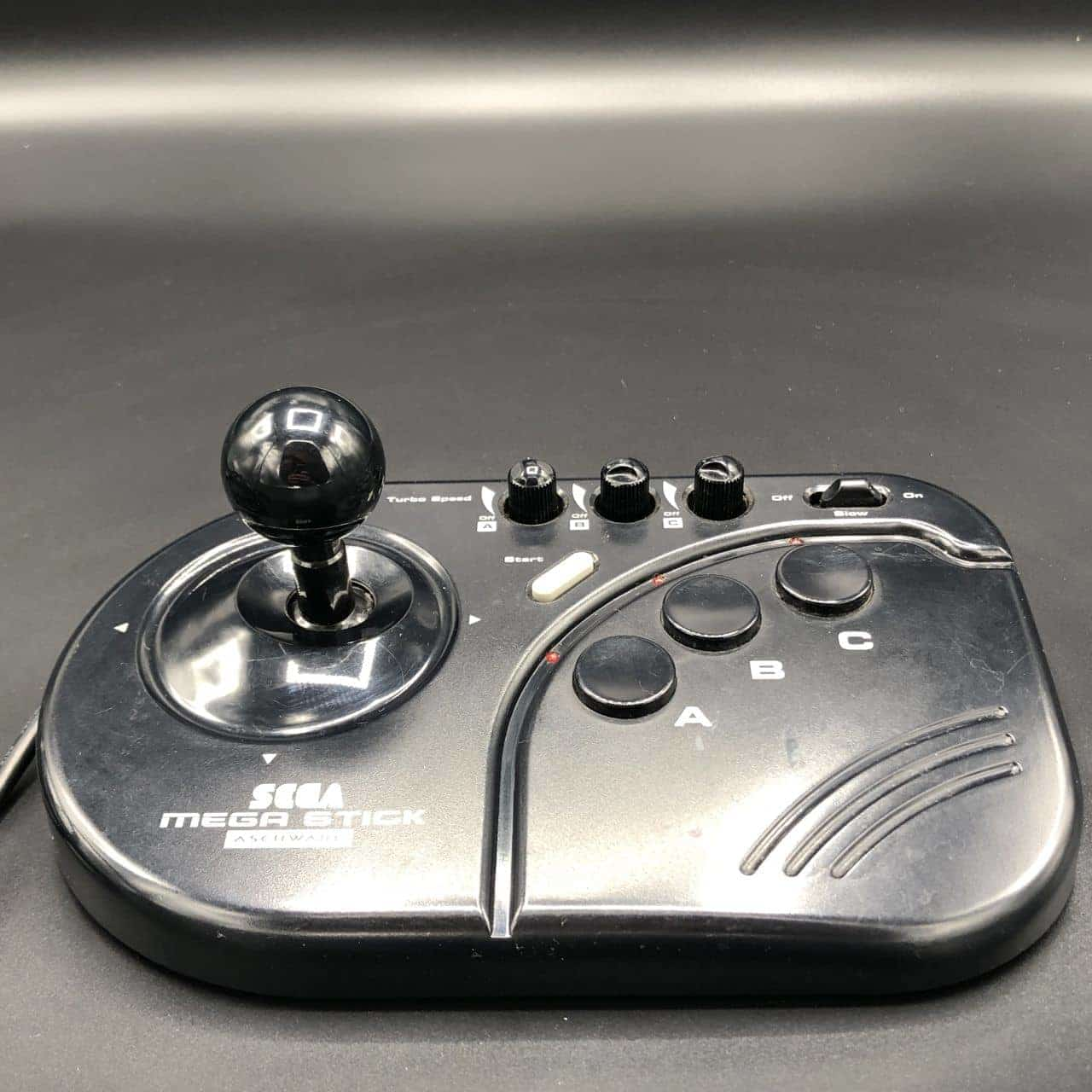 Original Sega Mega Stick, Asciiware, Arcade Stick, Controller (Gut) Mega Drive