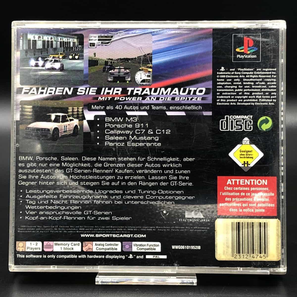 PS1 Sports Car GT (Komplett) (Gut) Sony PlayStation 1