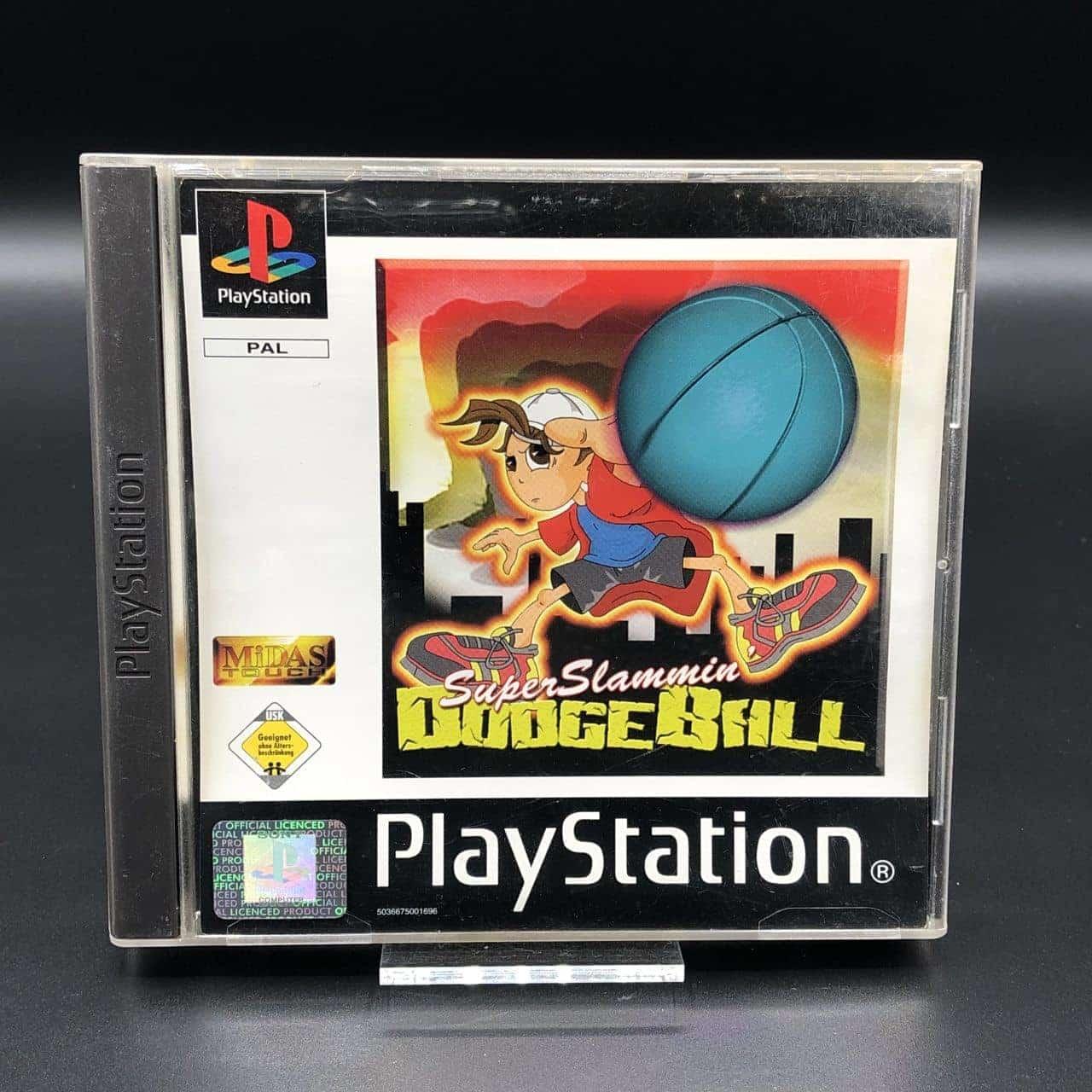 PS1 Super Slammin' Dodgeball (Midas Touch) (ohne Anleitung) (Gut) Sony PlayStation 1