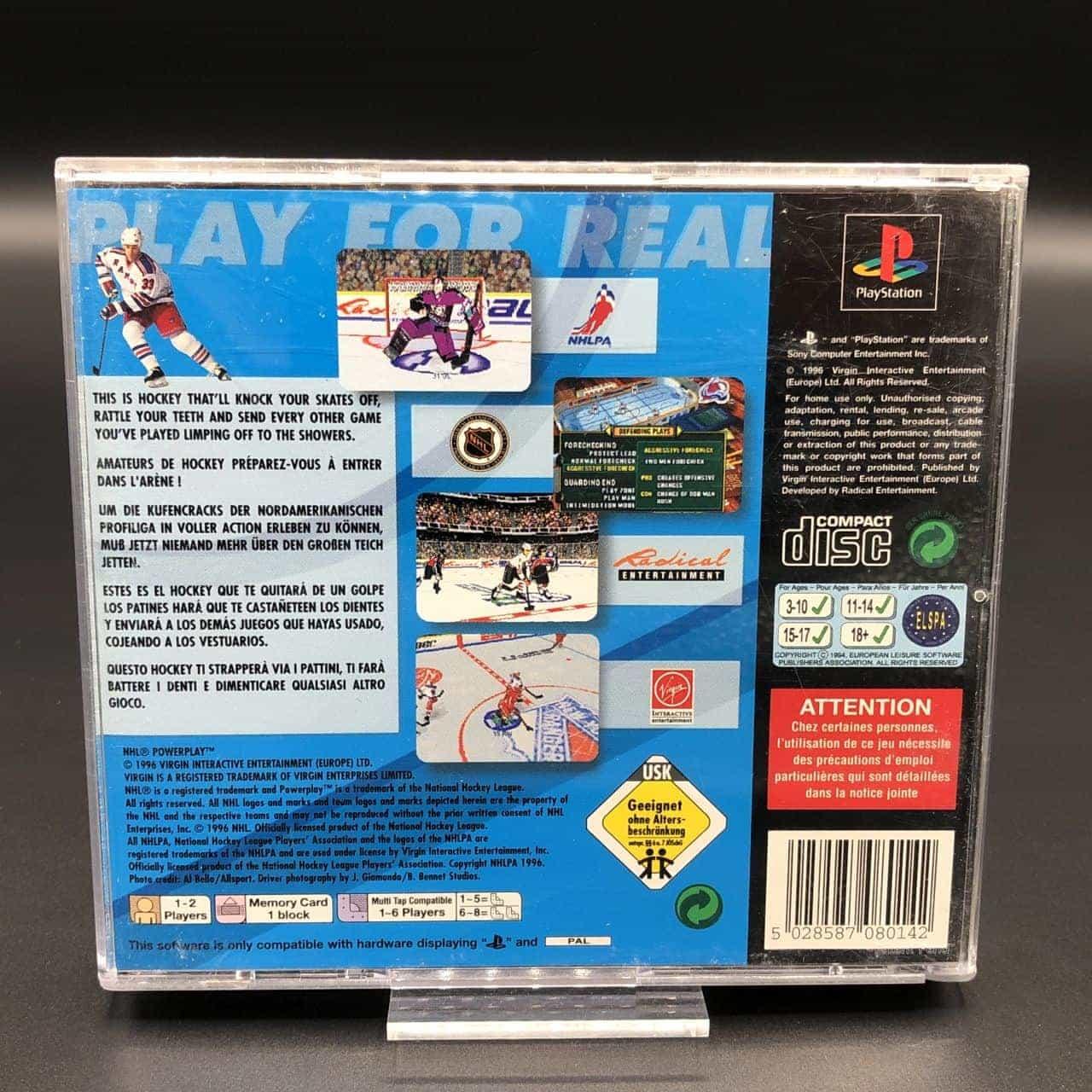 PS1 NHL Powerplay (Komplett) (Gut) Sony PlayStation 1