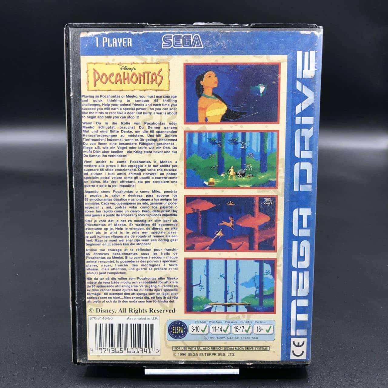 Pocahontas (ohne Anleitung) (Gebrauchsspuren) Sega Mega Drive