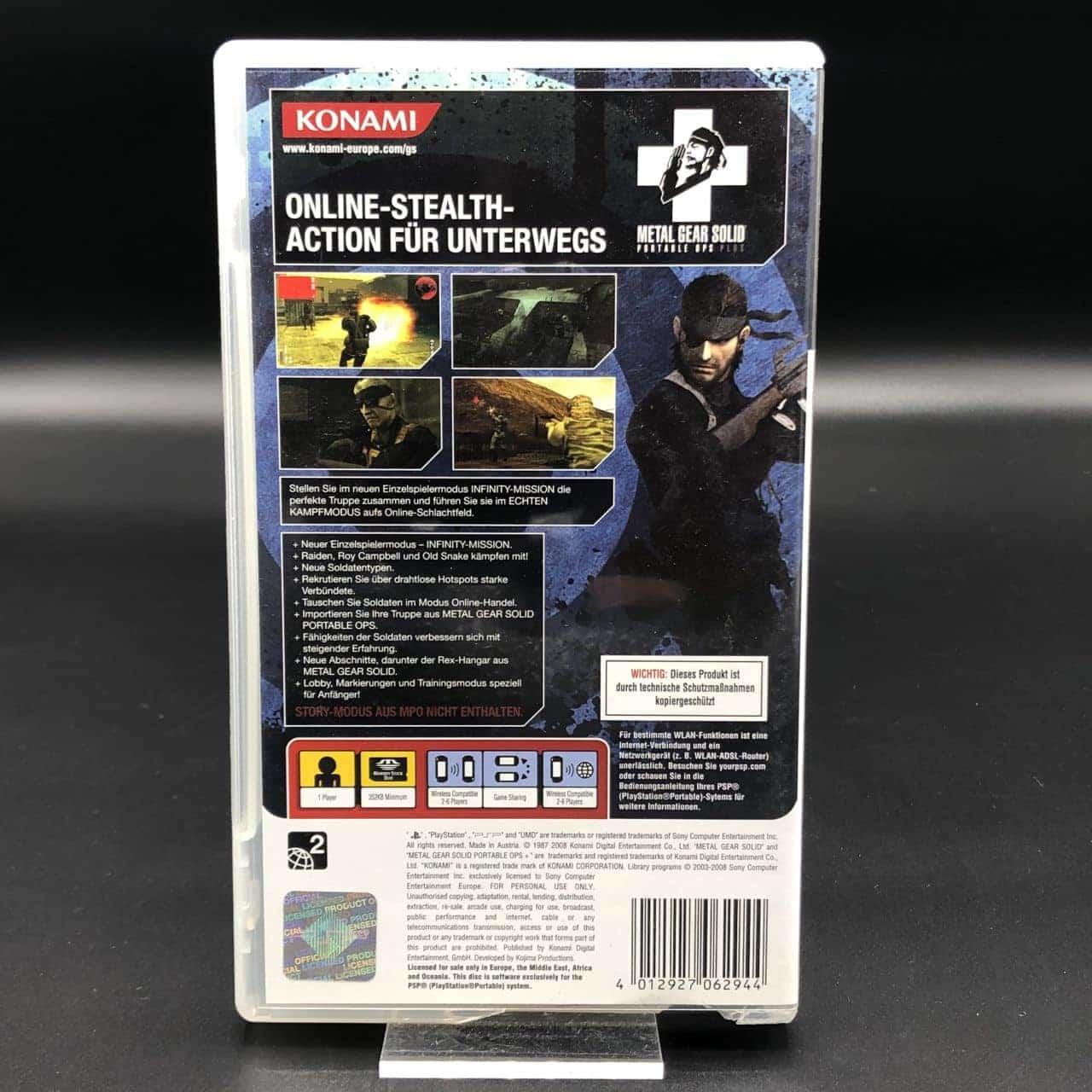 PSP Metal Gear Solid: Portable Ops Plus (Komplett) (Gut) Sony PlayStation Portable