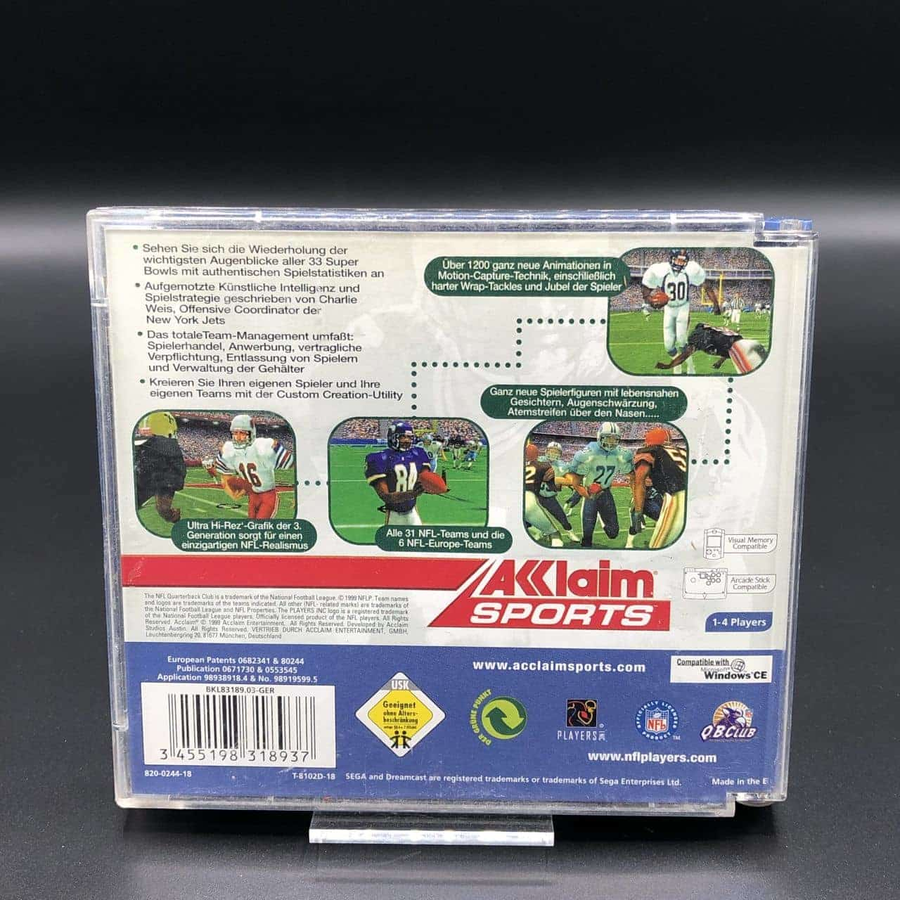 NFL Quarterback Club 2000 (Komplett) (Gut) Sega Dreamcast
