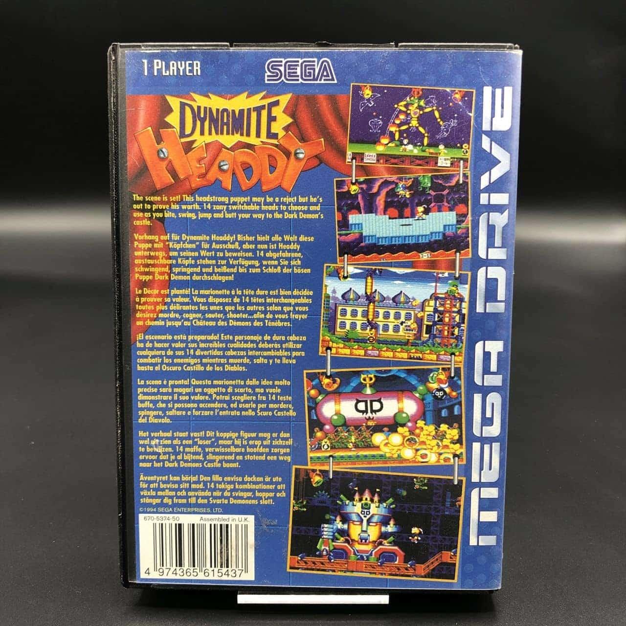 Dynamite Headdy (ohne Anleitung) (Sehr gut) Sega Mega Drive