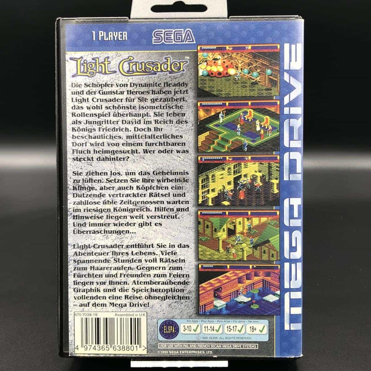 Light Crusader (ohne Anleitung) (Gut) Sega Mega Drive