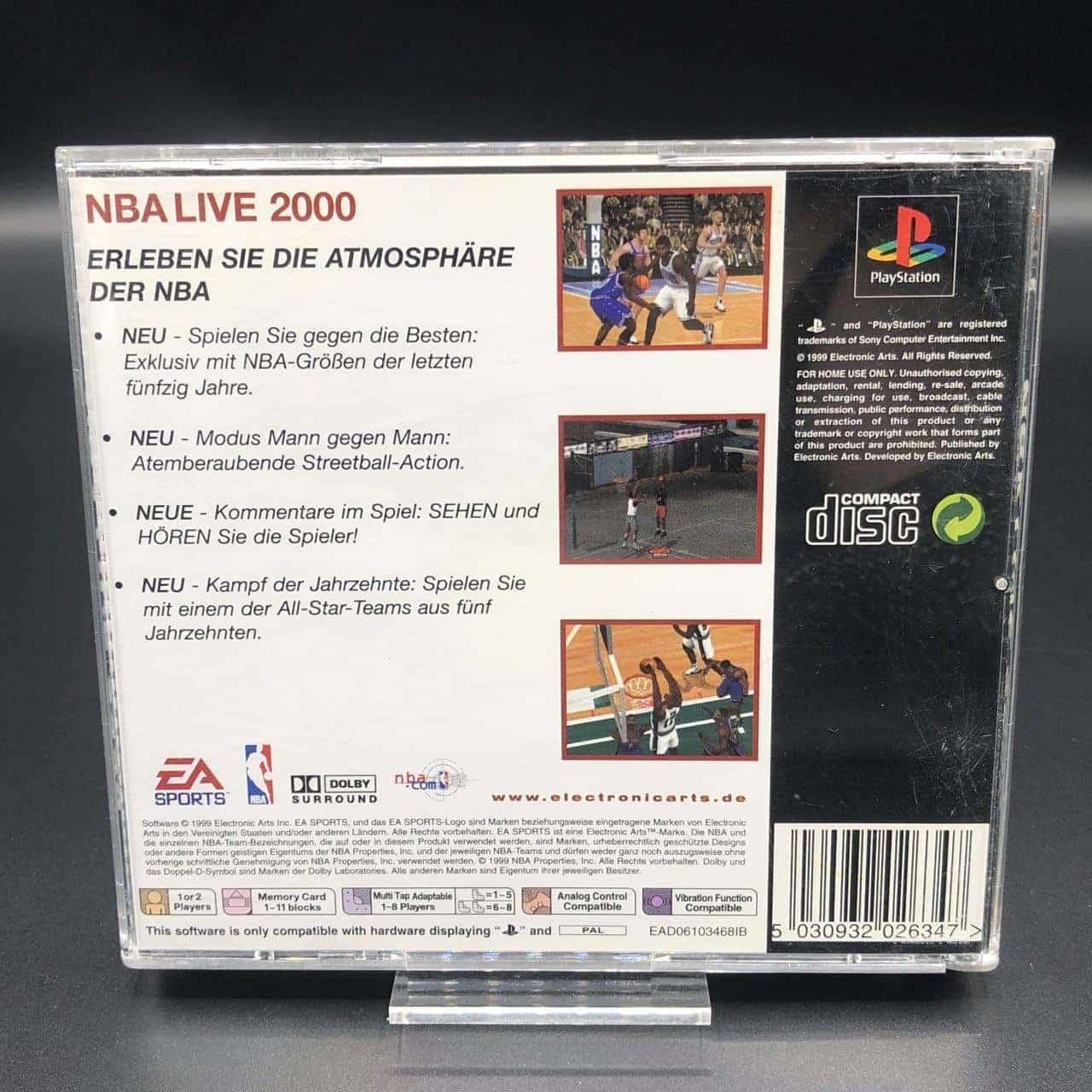 PS1 NBA Live 2000 (Classics) (ohne Anleitung) (Gebrauchsspuren) Sony PlayStation 1