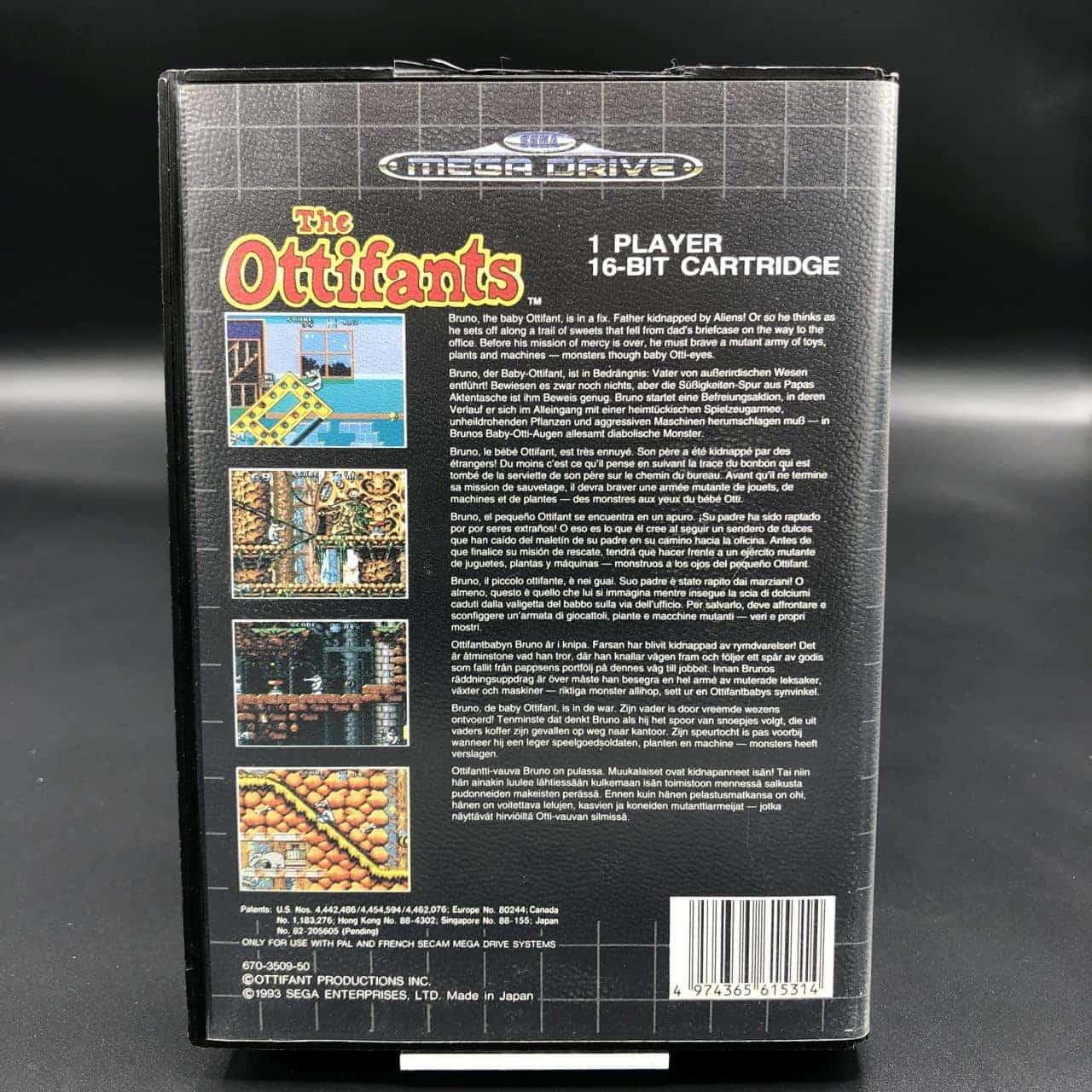 The Ottifants (Komplett) (Sehr gut) Sega Mega Drive