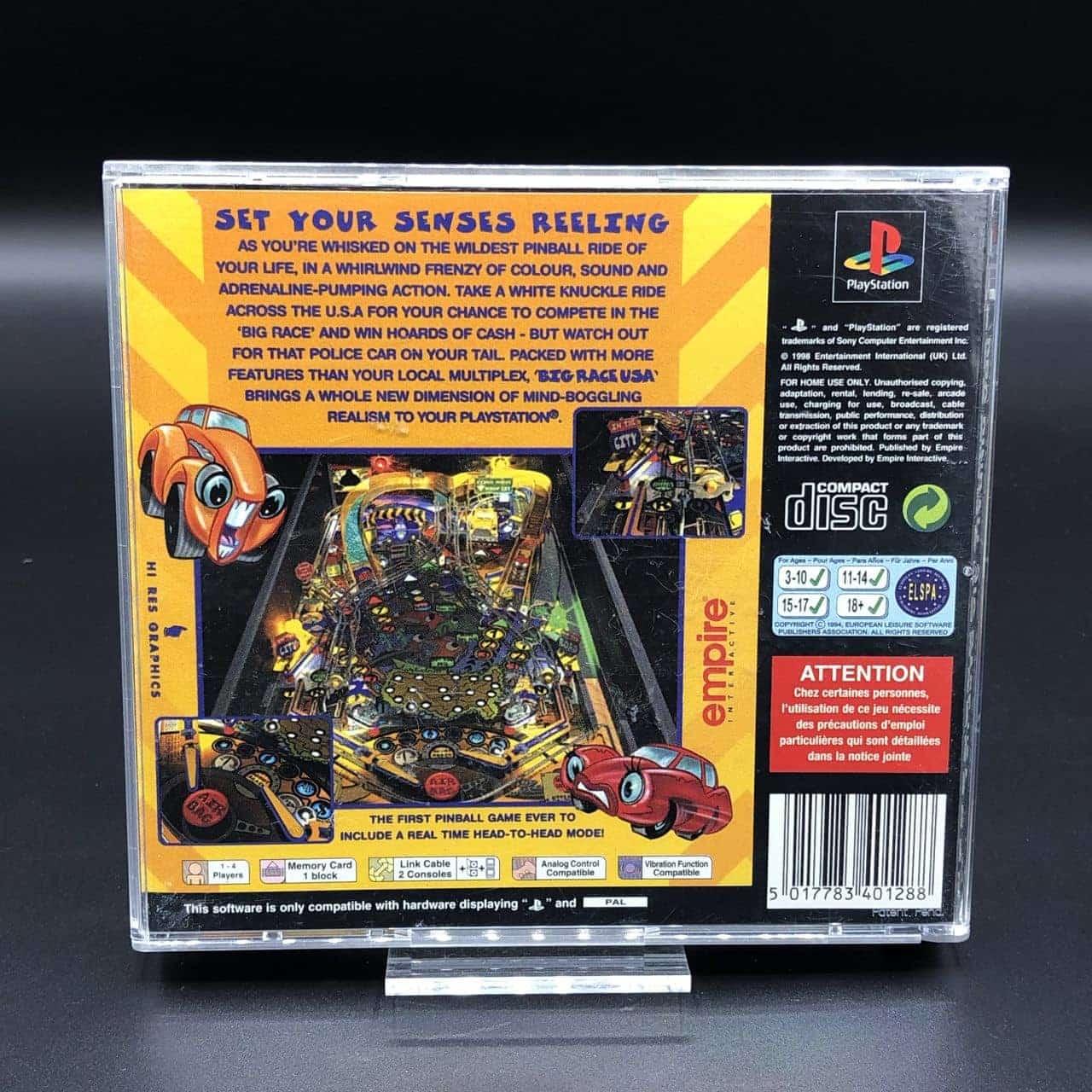 PS1 Pro Pinball - Big Race USA (Komplett) (Sehr gut) Sony PlayStation 1