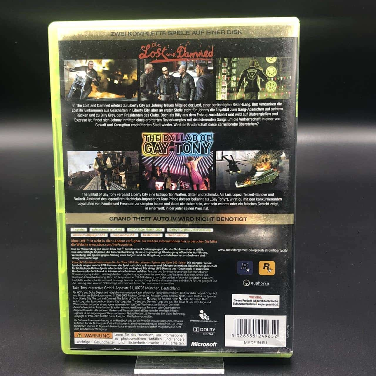 Grand Theft Auto: Episodes from Liberty City (Komplett) (Sehr gut) XBOX 360 (FSK18)
