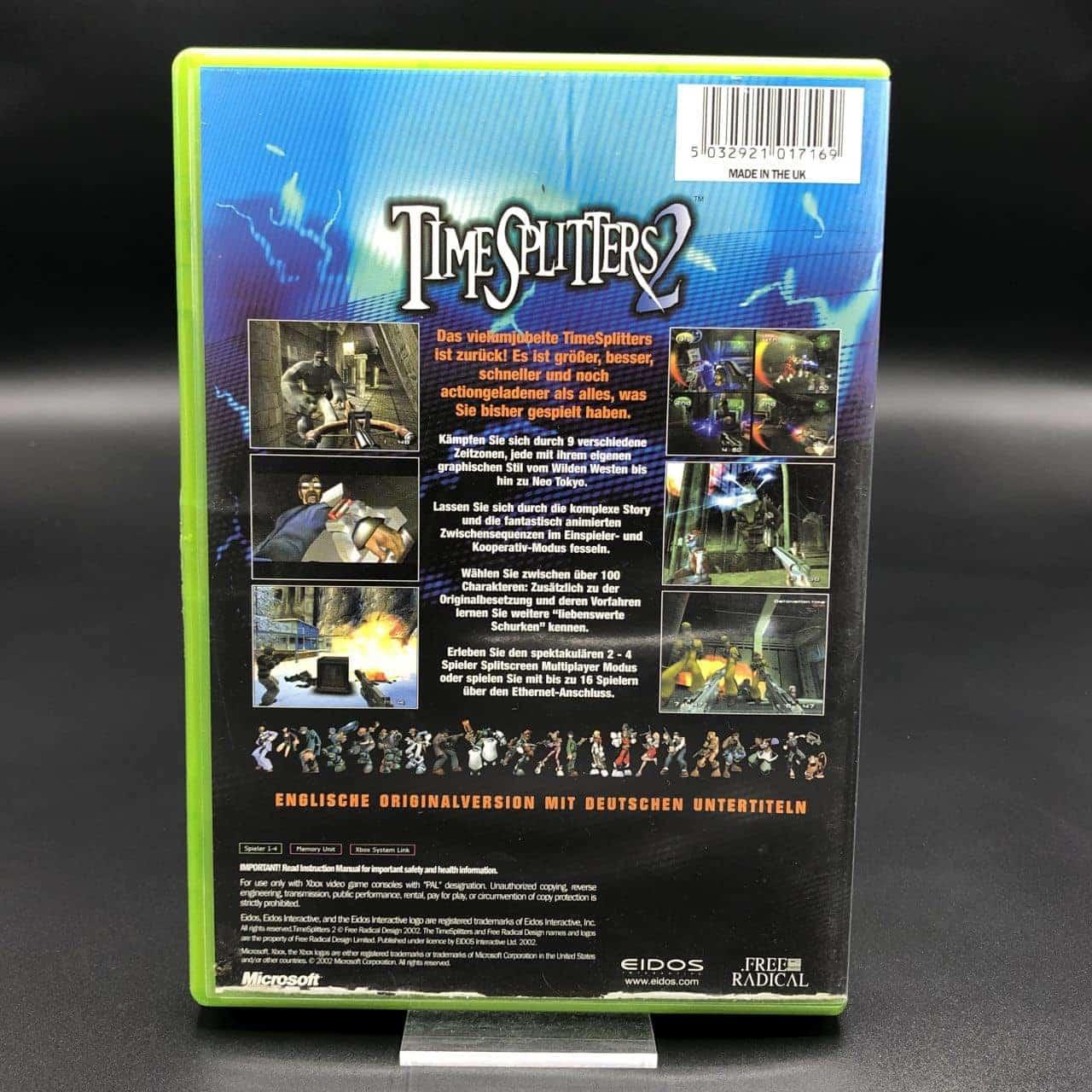 XBC TimeSplitters 2 (Komplett) (Gut) Microsoft Xbox Classic