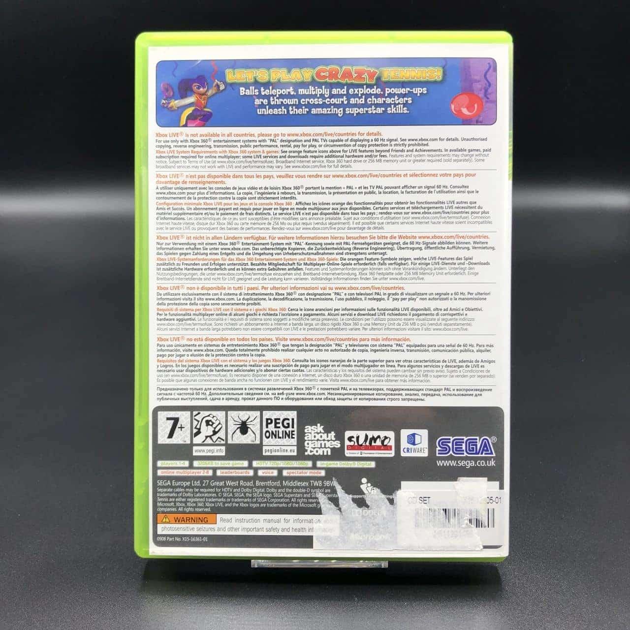 Sega Superstars Tennis (Komplett) (Sehr gut) XBOX 360