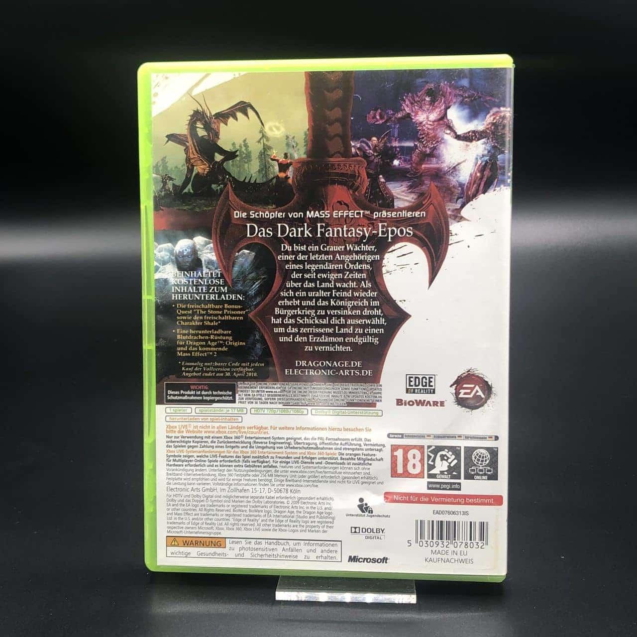 Dragon Age: Origins (Komplett) (Sehr gut) XBOX 360 (FSK18)