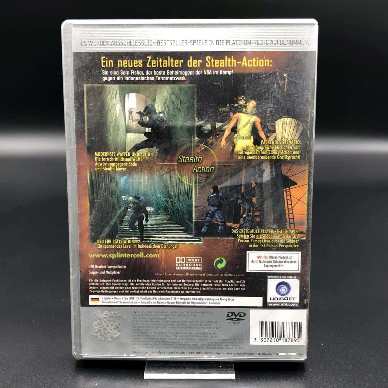 PS2 Tom Clancy's Splinter Cell: Pandora Tomorrow (Platinum) (Komplett) (Gebrauchsspuren)