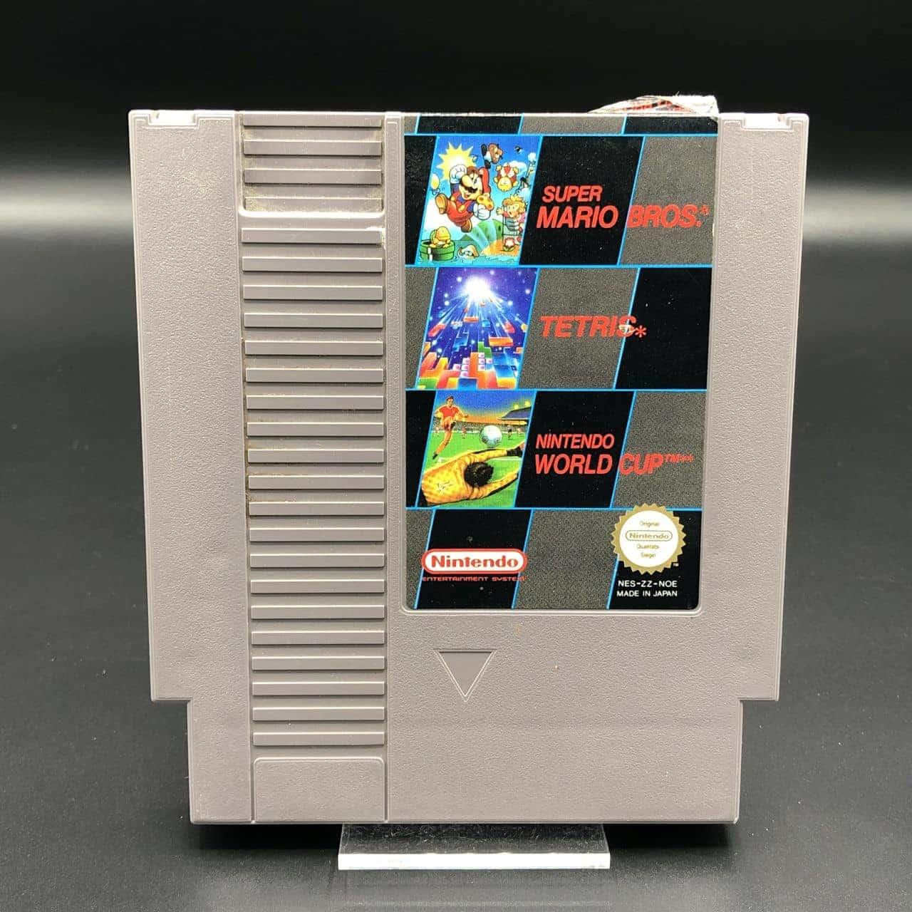 NES Super Mario Bros., Tetris, Nintendo World Cup (Modul) (Gut) Nintendo Entertainment System