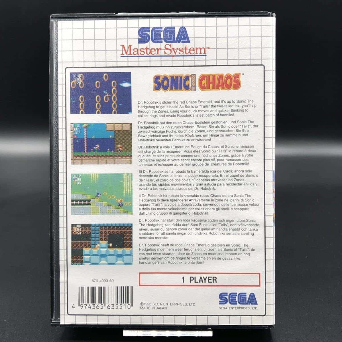 Sonic Chaos (Komplett) (Sehr gut) Sega Master System