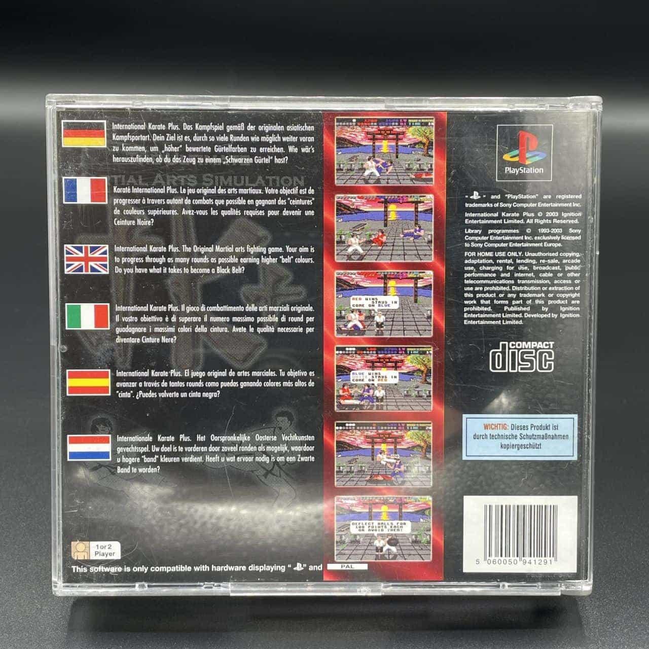 PS1 IK+:The Ultimate Martial Arts Simulation (Komplett) (Gut) Sony PlayStation 1