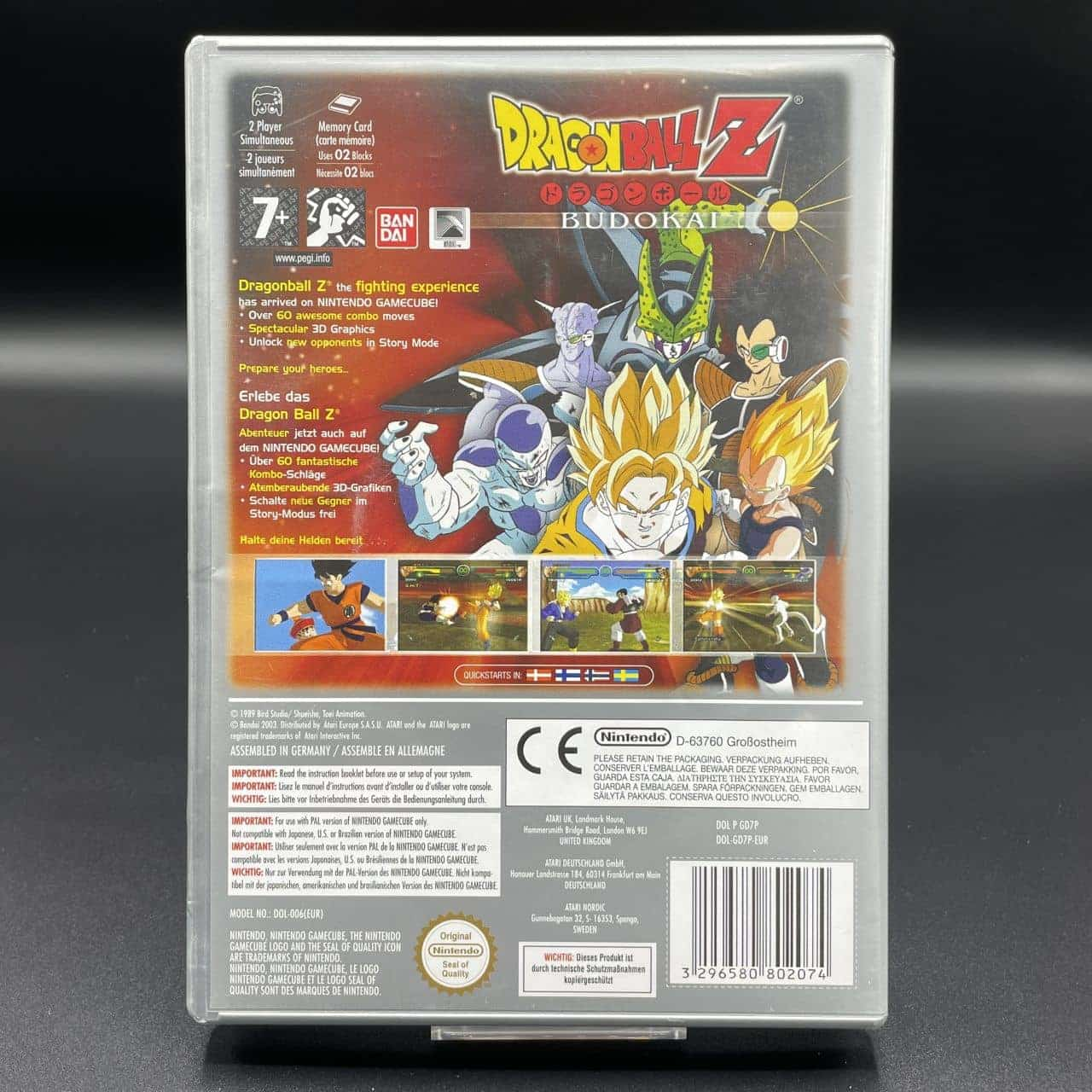 GC Dragon Ball Z: Budokai (Players Choise) (Komplett) (Gebrauchsspuren) Nintendo GameCube