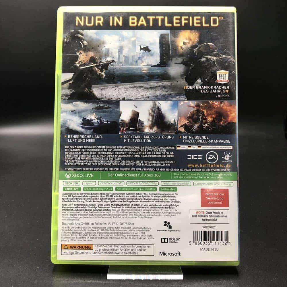 Battlefield 4 (Bestseller) (Komplett) (Sehr gut) XBOX 360 (FSK18)