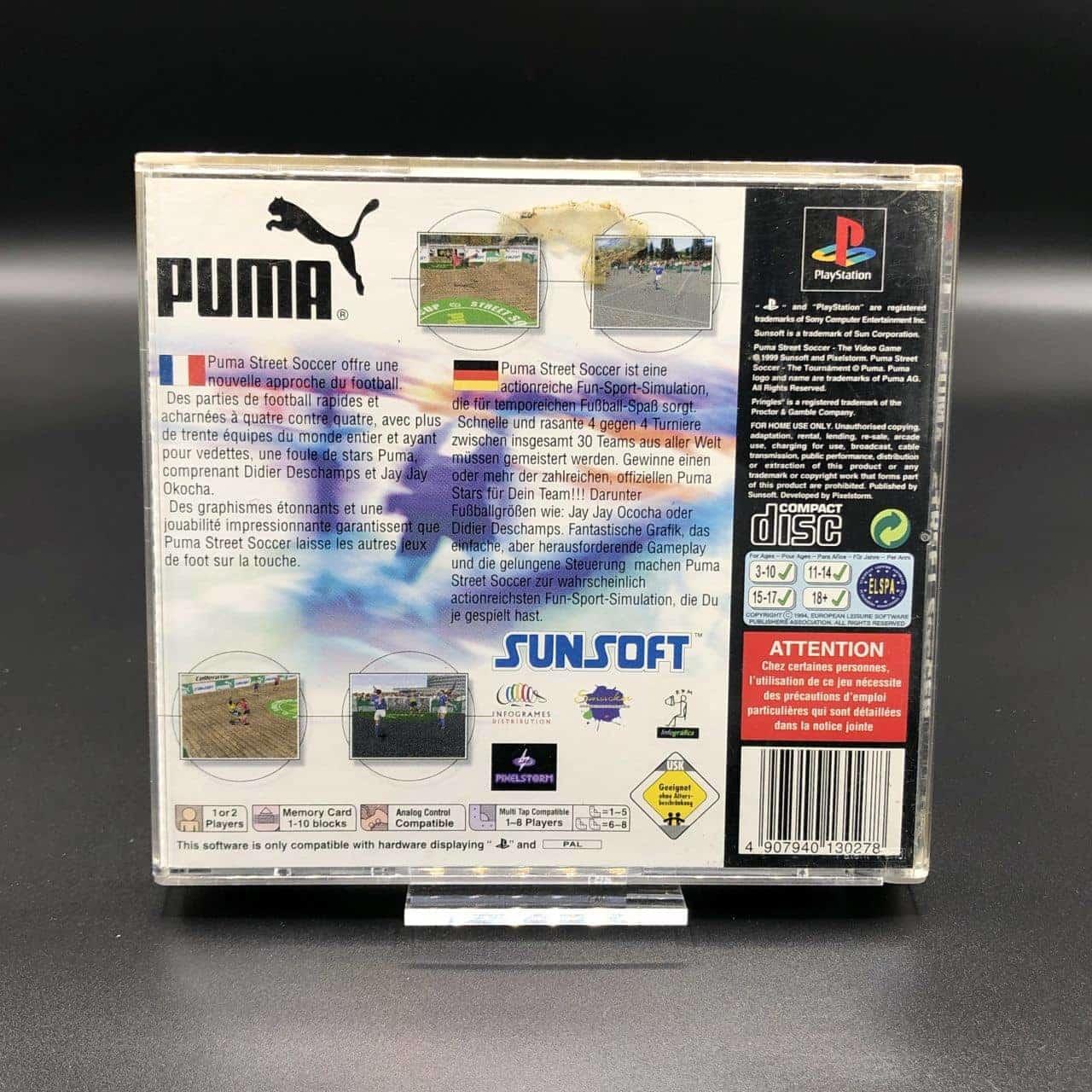 PS1 Puma Street Soccer (Komplett) (Sehr gut) Sony PlayStation 1