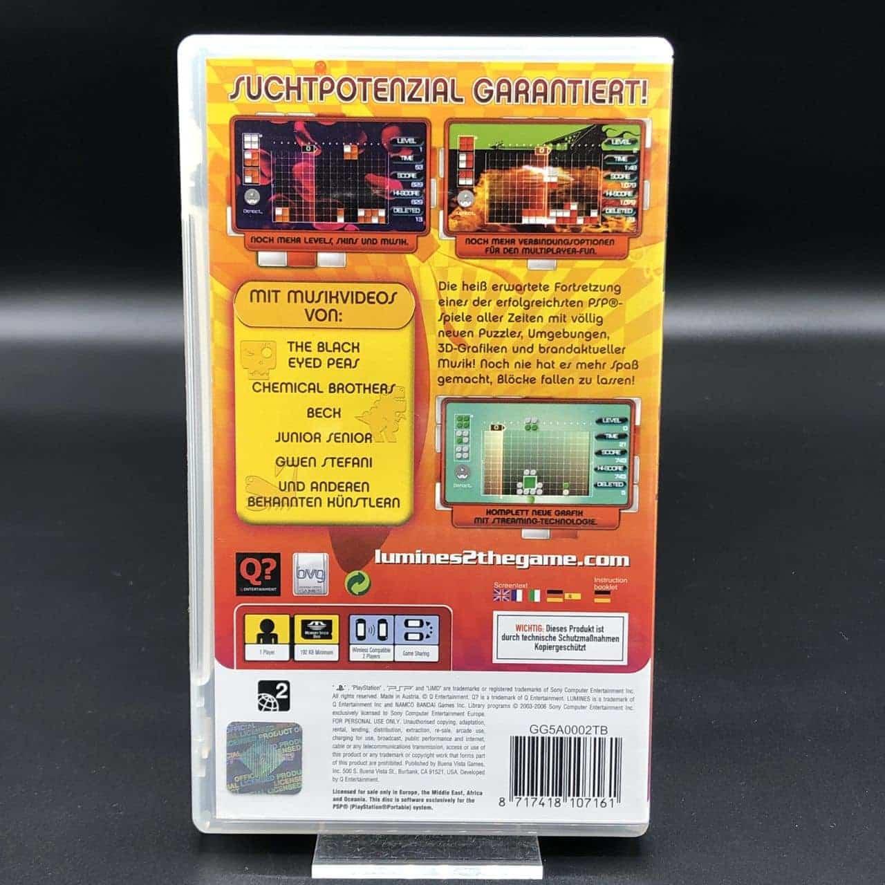 PSP Lumines II (Komplett) (Sehr gut) Sony PlayStation Portable