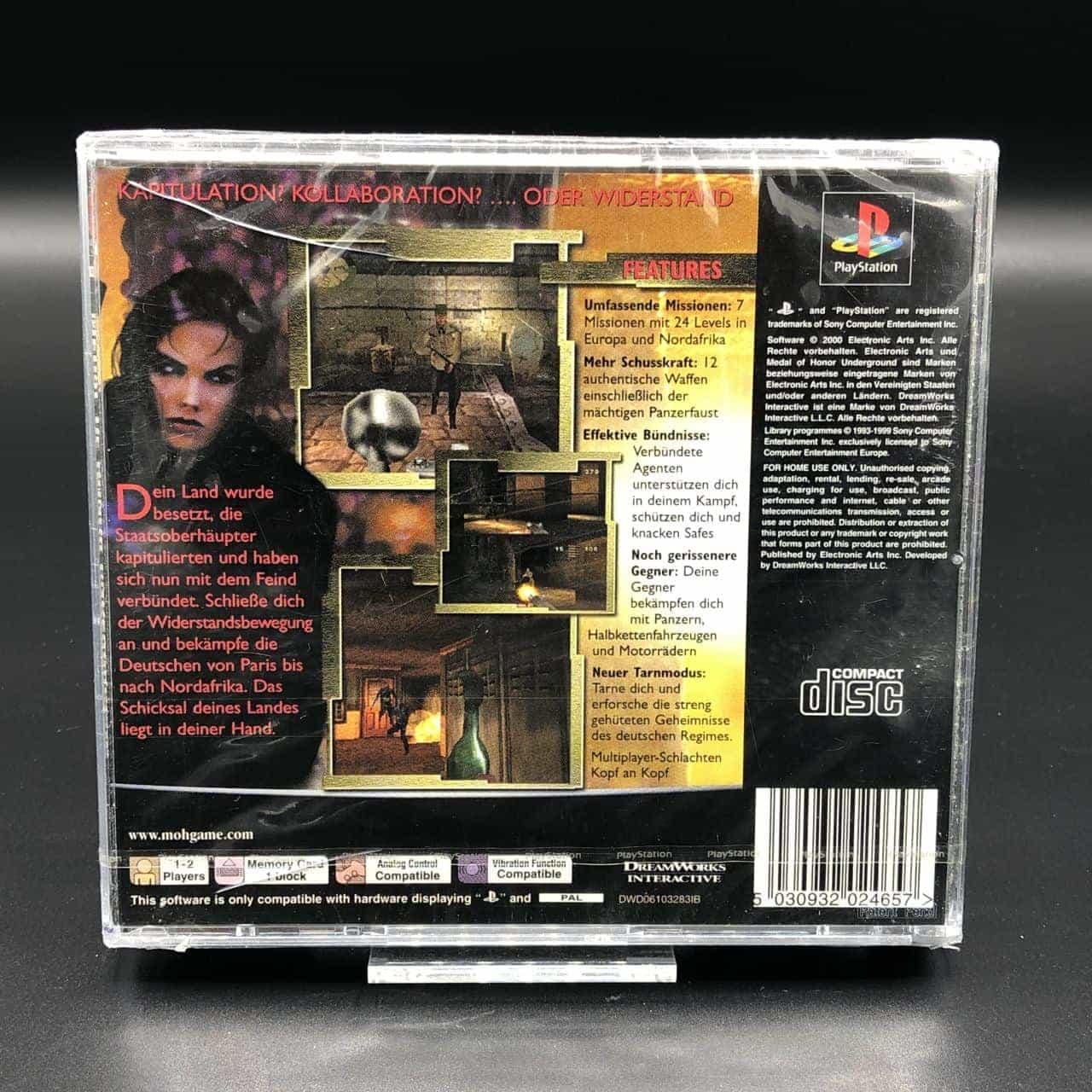 PS1 Medal of Honor: Underground (NEU) Sony PlayStation 1 (FSK18)