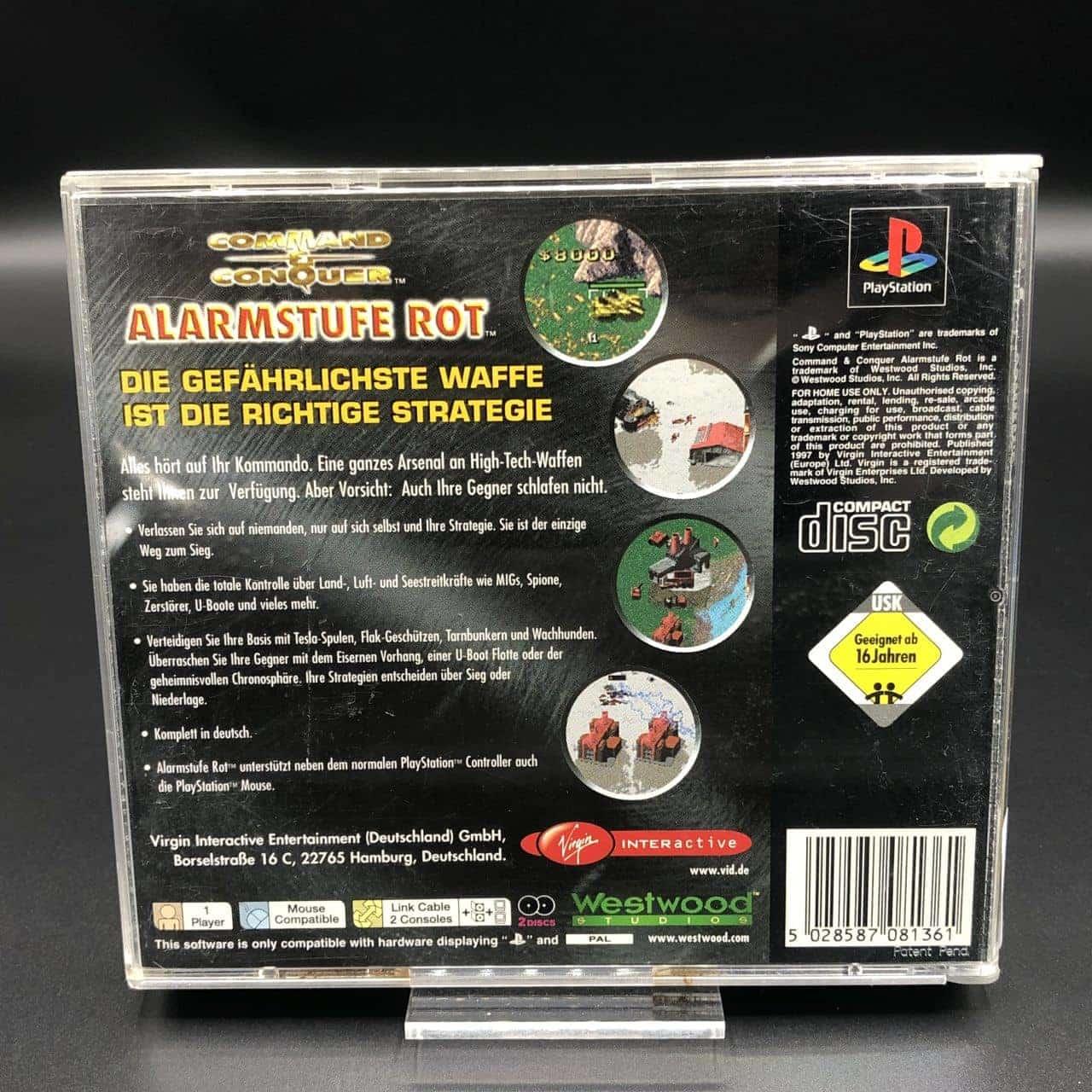 PS1 Command & Conquer: Alarmstufe Rot (Komplett) (Gebrauchsspuren) Sony PlayStation 1