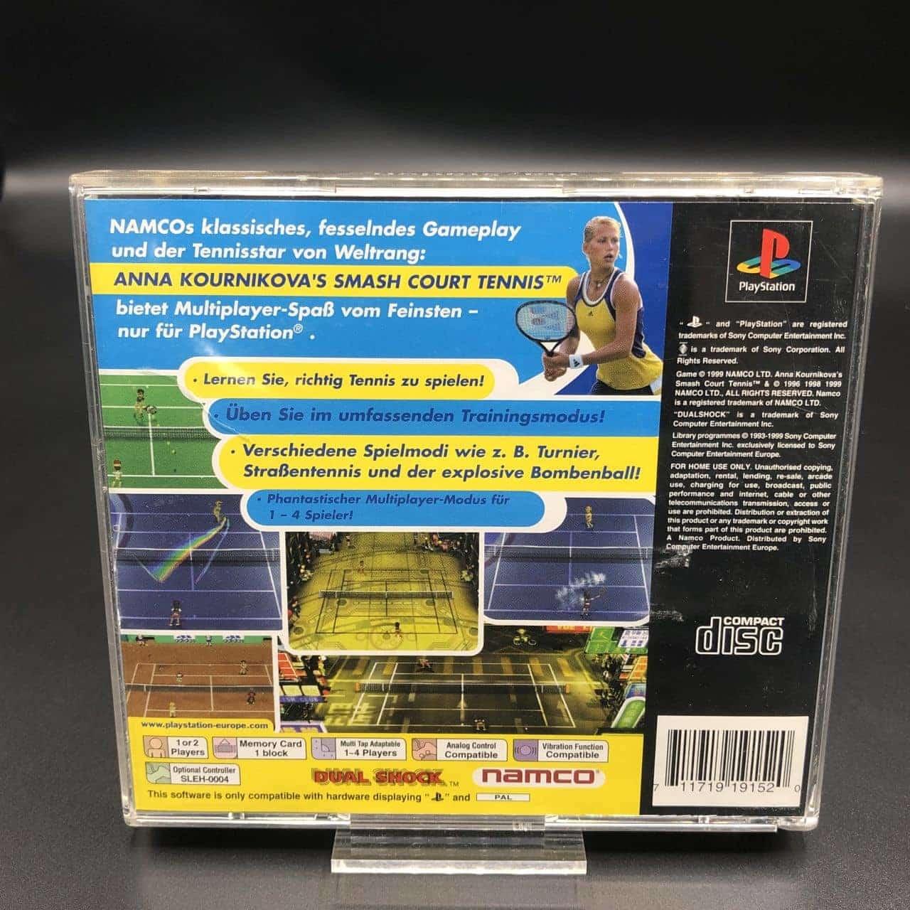 PS1 Anna Kournikova's Smash Court Tennis (Komplett) (Gut) Sony PlayStation 1