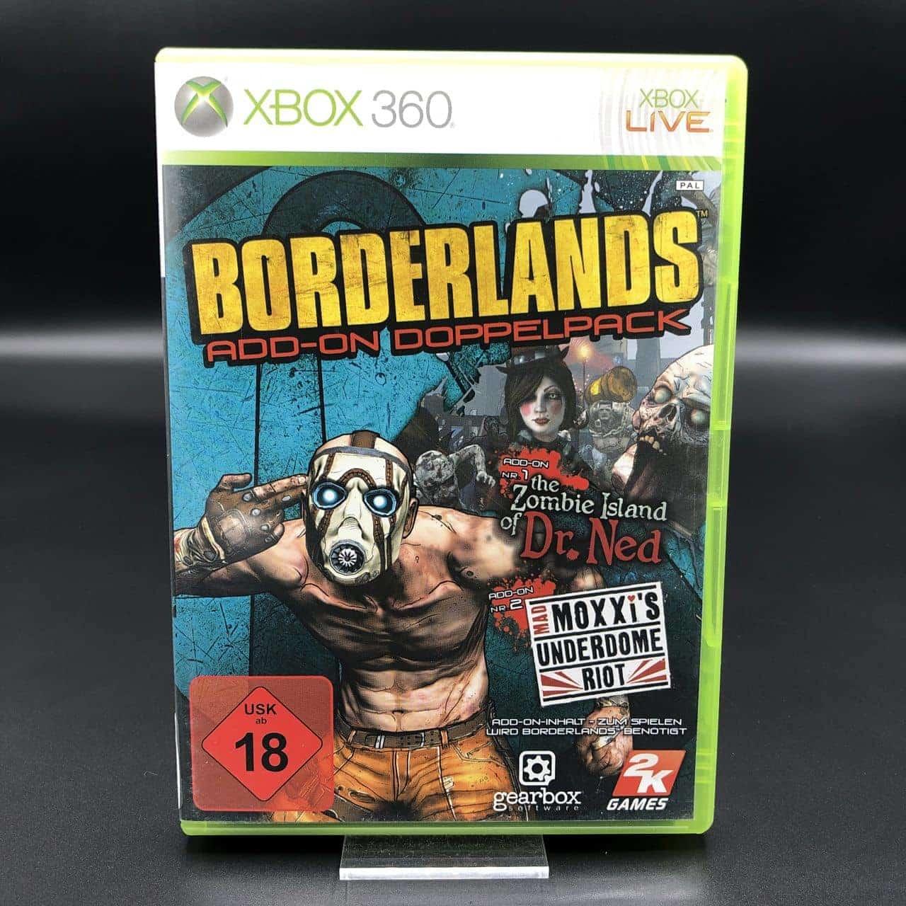 Borderlands Add-On Doppelpack (Komplett) (Sehr gut) Xbox 360 (FSK18)